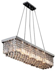 New Contemporary Rectangular Crystal Chandelier - modern - chandeliers - by Lightinguuuup