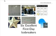 6 Excellent First-Day Icebreakers | Blog de Cristina