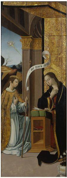 Pedro Romana of Cordoba, Spain, The Annunciation, about 1527, Victoria & Albert Museum