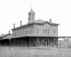 The Union Depot, located between 14th and 15th Streets, fronting Peach at Turnpike Streets (1867)