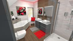 Praca konkursowa z wykorzystaniem mebli łazienkowych z kolekcji LOOK #naszemeblenaszapasja #elitameble #meblełazienkowe #elita #meble #łazienka #łazienkaZElita2019 #konkurs Corner Bathtub, Bathroom, Design, Washroom, Corner Tub, Bathrooms, Bath