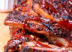 Costillas BBQ en Exquisita Salsa casera | Este día del padre organiza un día especial con estas ricas recetas desde botanas fáciles, ideas para una parrillada y cómo hacer hamburguesas al asador.