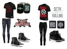 """""""Dean Ambrose and Seth Rollins"""" by shadowwolf16 ❤ liked on Polyvore featuring WWE, Yves Saint Laurent, Dorothy Perkins, rag & bone and MICHAEL Michael Kors"""