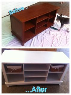 A simple paint job can update furniture so easily! I love my new tv stand!
