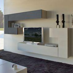 Tv Cabinet Wall Design, Tv Wall Cabinets, Tv Wall Design, Wall Shelves Design, Living Room Wall Units, Living Room Tv Unit Designs, Living Room Decor, Modern Wall Units, Muebles Living