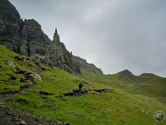 Hiking the Old Men of Storr on the Isle of Skye in Scotland.  Like stepping out of a book from childhood.