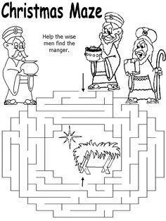 help the wise men find the manger maze