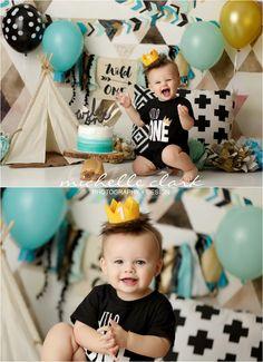 Sesión de fotos Boys 1st Birthday Party Ideas, 1st Birthday Photoshoot, 1st Birthday Cake Smash, Wild One Birthday Party, First Birthday Pictures, First Birthday Themes, Baby Boy First Birthday, Boy Cake Smash, Bebe 1 An