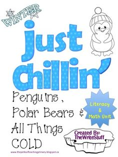 Brrrr! Penguins, polar bears and all things cold! Literacy and Math resource pack. ($)