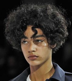 """gulcayn: """" damaris at courreges """" 3 4 Face, Male Face, Human Reference, Photo Reference, Portrait Inspiration, Character Inspiration, Male Curly Hair, Pretty People, Beautiful People"""