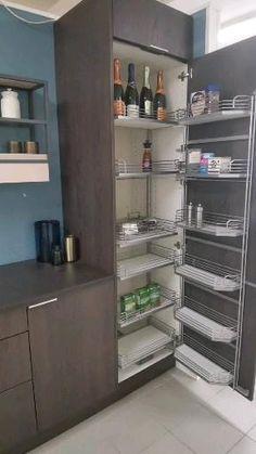 Kitchen Cupboard Designs, Kitchen Pantry Cabinets, Kitchen Room Design, Modern Kitchen Cabinets, Modern Kitchen Design, Home Decor Kitchen, Interior Design Kitchen, Corner Pantry Cabinet, Kitchen Taps