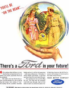 Ford In Your Future Crystal Ball Soldier | Mad Men Art | Vintage Ad Art Collection
