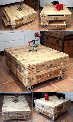 repurposed wooden pallet table plan