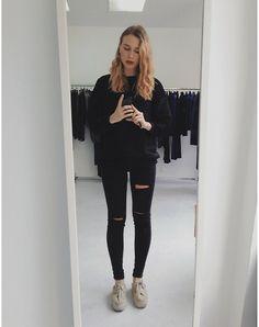 Superga Platform Keds, Zara Skinny Jeans, Claudie Pierlot  Chunky Pullover