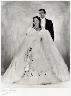 "Vivien Leigh and John ""Jack"" Merivale in LADY OF THE CAMELLIAS, 1961. via facebook.com/vivandlarry"
