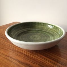 Vintage GREEN RYE Pottery Bowl Mid Century Dish 1950 Black Scrafitto Atomic Ceramic Scrafitto Ceramic Retro Dish by on Etsy Pottery Bowls, Ceramic Bowls, Rye, Vintage Green, Recycled Materials, Swirls, Modern Interior, Icon Design, Dish
