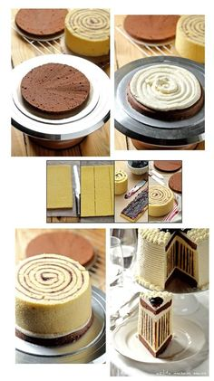 gateau choco roule no recipe Just Desserts, Delicious Desserts, Yummy Food, Baking Recipes, Cake Recipes, Dessert Recipes, Frosting Recipes, Cake Decorating Tips, Creative Cakes
