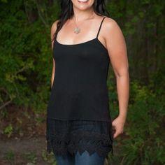 Long lace tanks/Tee shirt extenders