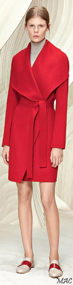Resort 2016 Boss  http://www.hugoboss.com/us/%27catifa%27-wool-cashmere-shawl-collar-coat/hbna50301226.html?cgid=11007&dwvar_hbna50301226_color=617_Red#image