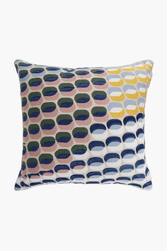 Embroidered Printed Dots Scatter Cushion, 50x50cm - Shop New In - Home Scatter Cushions, Throw Pillows, 2nd City, Home Decor Shops, Chair Pads, Modern Design, Dots, Bedroom, Printed
