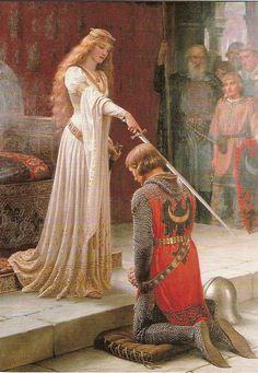 Reine sacrant un chevalier