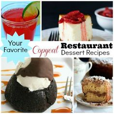 Your Favorite: Copycat Restaurant Dessert Recipes