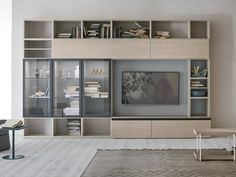 Obtain the catalog and request costs of Unit By gruppo tomasella, modular storage wall esszimmer regal Sectional storage … Tv Unit Bedroom, Living Room Wall Units, Bookshelves In Bedroom, Ikea Living Room, Room Decor Bedroom, Interior Design Living Room, Living Room Designs, Dining Room Shelves, Living Room Arrangements