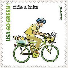 USA - Go Green Postage Stamps