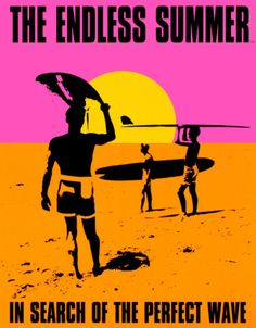 "Designed by John Van Hamersveld in 1966 to promote the surfing film ""The Endless Summer"", we stock this licensed poster printed in the USA. The Endless Summer poster continues to be one of the top selling posters here in surfing obsessed New Zealand in"