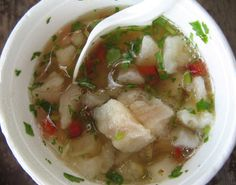 Roadside ceviche :-) Costa Rican cuisine, the essence of pura vida