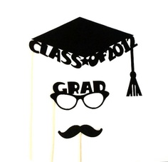 Photobooth Props College Graduation Class Of 2012 Graduation Photo Booth Props College Graduation High School Graduation Hipster Set. $12.95, via Etsy.