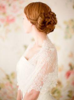 Bridal Cover-up, Bolero, lace, jacket - Style 222. $285.00, via Etsy.