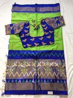 Simple Blouse Designs, Stylish Blouse Design, Bridal Blouse Designs, Bridal Silk Saree, Chiffon Saree, Lehenga Skirt, Interior Design Boards, Simple Sarees, Elegant Saree