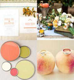 Peach Wedding / peachy keen on http://itsabrideslife.com