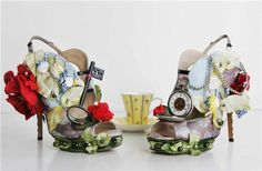 Maybe the most creative Alice in Wonderland shoes I've seen so far