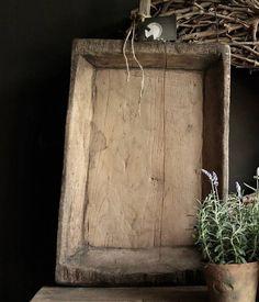 Authentieke houten Nepalese schaal met handvat
