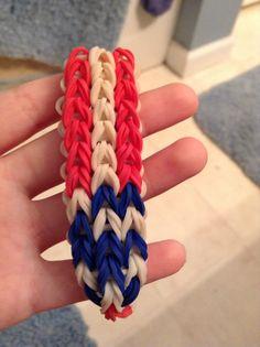 American flag rainbow loom bracelet
