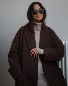 Photo shared by Vanessa — Content Creator on November 06, 2020 tagging @asos, @daphine, and @vanessarosemai. May be an image of 1 person, hair, sunglasses and outerwear. Winter Coats, November, Asos, Content, Sunglasses, Brown, Hair, Image, November Born