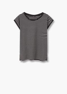 Bawełniana koszulka w pasy | MANGO