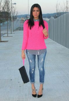 Pink e Riscas   , Primark in Sweaters, H in Shirt / Blouses