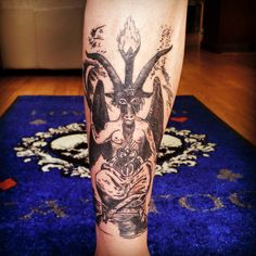 #lowcardtattoo #pittsburghtattoo #pittsburghtattooartists #pittsburgh #art #tattoo #baphomet