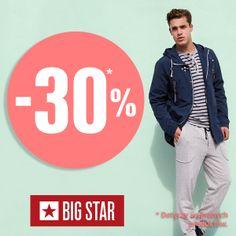 Big Star ma również ofertę na wybrane produkty  - 30%  Korzystaj z okazji przyjdź do sklepu!  Wybierz coś dla siebie!