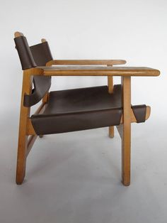Pair of Borge Mogensen Spanish Chairs | From a unique collection of antique and modern armchairs at https://www.1stdibs.com/furniture/seating/armchairs/