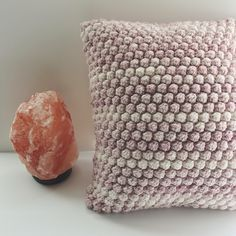 A personal favorite from my Etsy shop https://www.etsy.com/listing/500060074/pink-denim-bobble-pillow-decorative