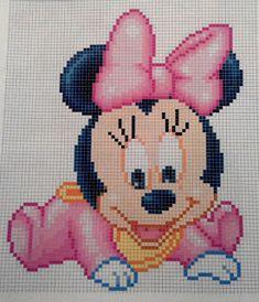 Hama Beads Disney, Hama Disney, Perler Beads, Baby Mickey, Disney Mickey Mouse, Cross Stitch Charts, Cross Stitch Patterns, Cross Stitches, Loom Patterns