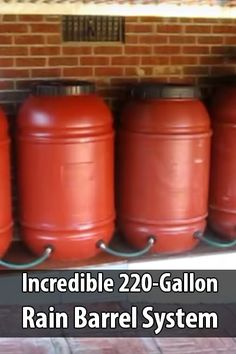 BubbleBeet made a video explaining how he set up a 220 gallon rain barrel system. If a family went through 8 gallons a day, it would still last a month.