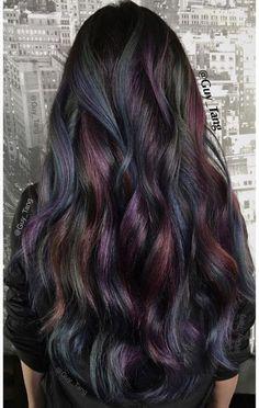 Oil slick hair color... LOVE