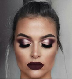 Anastasia Beverly Hills: Beautiful look BROWS: Brow Powder in Ash Brown + clear brow gel EYES: . Edgy Makeup, Makeup Eye Looks, Prom Makeup, Smokey Eye Makeup, Makeup For Brown Eyes, Bridal Makeup, Wedding Makeup, Beauty Makeup, Winter Makeup