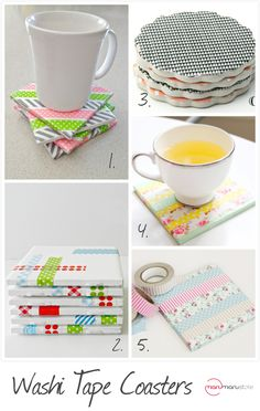 DIY Weekly Inspirations: Washi Tape Coasters - Maru Store