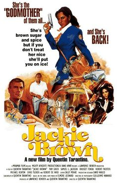 "poster for ""Jackie Brown"" by Quentin Tarantino Quentin Tarantino, Tarantino Films, Jackie Brown, Elmore Leonard, Love Movie, Movie Tv, Foxy Brown, Plus Tv, Films Cinema"